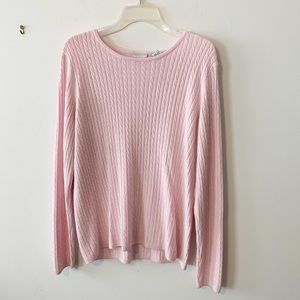 Kim Rogers baby pink knit long sleeved sweater